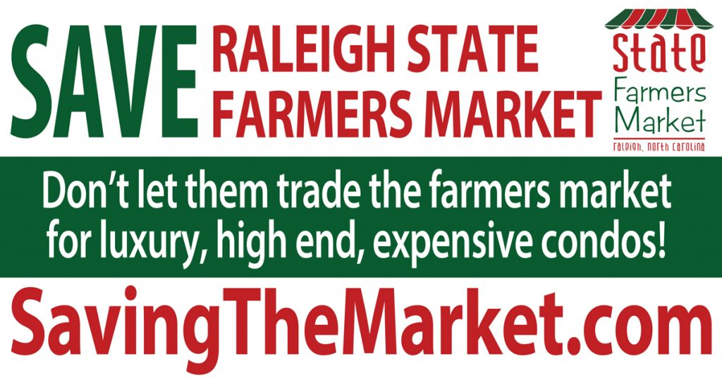 Don't Let them trade the farmers market for luxury, high end, expensive condos!